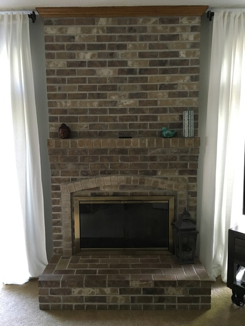Mounting Tv Above Fireplace With Brick Mantel