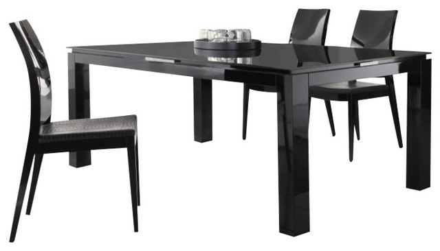 rossetto diamond dining table black lacquer modern dining tables