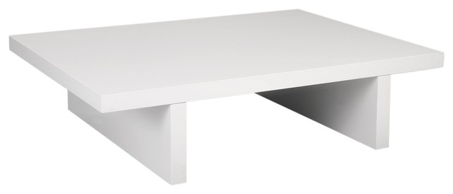 Boxter table basse blanche contemporary coffee tables for Table basse opium blanche