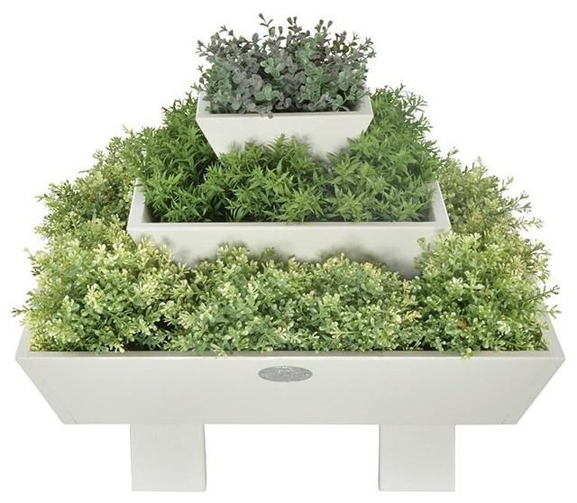 flower bed pyramid white modern pflanzk bel von. Black Bedroom Furniture Sets. Home Design Ideas