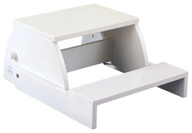 Kidkraft Kids Bathroom Bedroom Kitchen Toddler Stepping Large Flip Stool White Contemporary