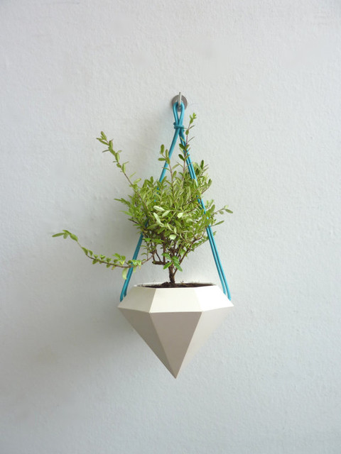 Diamond Hanging Planter By Raw Dezign Modern Indoor