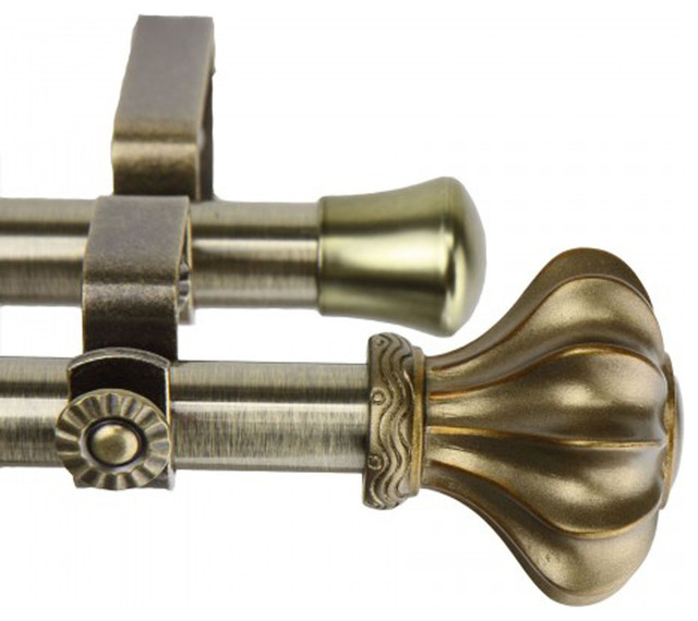 curtain rod antique brass 48 84 inch traditional curtain rods by
