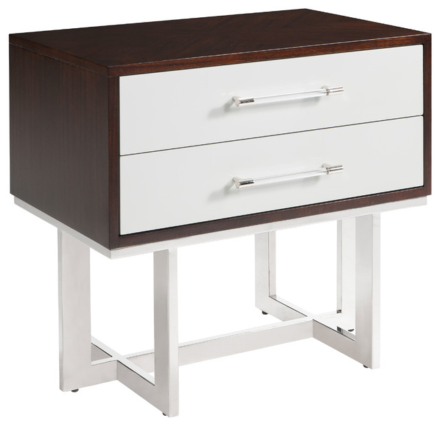 ... Lucite Rod Nightstand transitional-nightstands-and-bedside-tables
