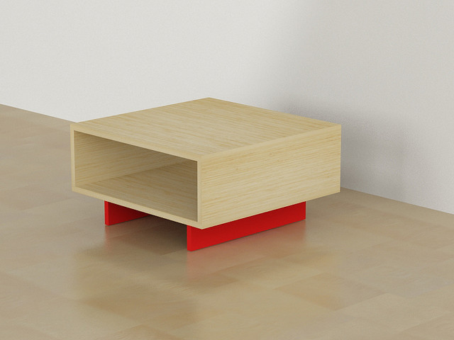 Hola Coffee Table Oak Red Contemporary Coffee Tables Other Metro By Decortie