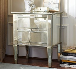 park mirrored bedside table traditional nightstands and bedside tables by pottery barn. Black Bedroom Furniture Sets. Home Design Ideas
