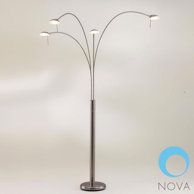 shell 4 light arc floor lamp nova modern floor lamps los. Black Bedroom Furniture Sets. Home Design Ideas