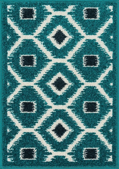 Loloi terrace area rug contemporary area rugs by for Navy and teal rug
