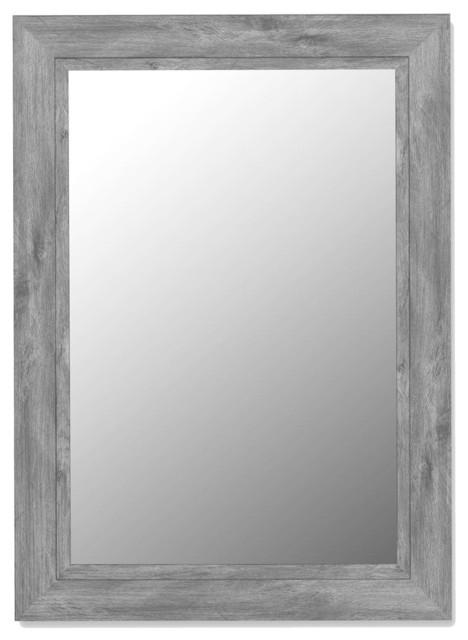 Wall mirror w hooks 38 in x 48 in contemporary - Miroir salle de bain castorama ...
