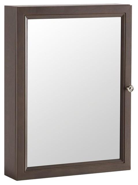 Delridge 22 in. x 29.5 in. Surface-Mount Mirrored Medicine Cabinet in Flagstone - Contemporary ...
