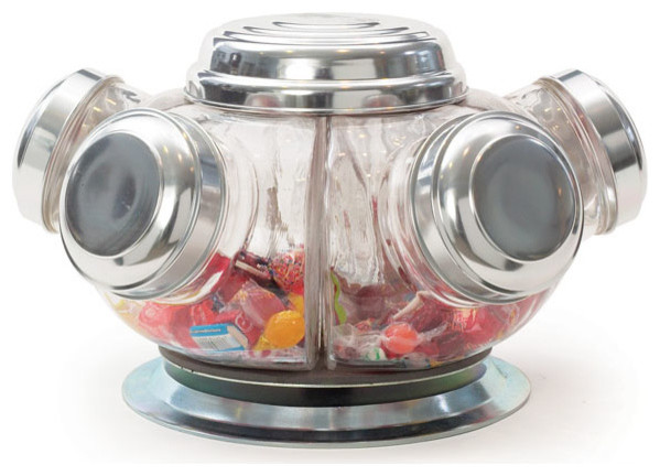 Vintage Revolving Candy Jars - Eclectic - Food Storage Containers - by ...