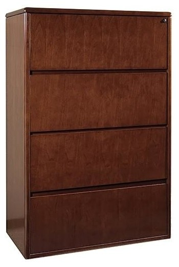 4-Drawer Lateral Locking File in Wood - Sonom - Contemporary - Filing Cabinets