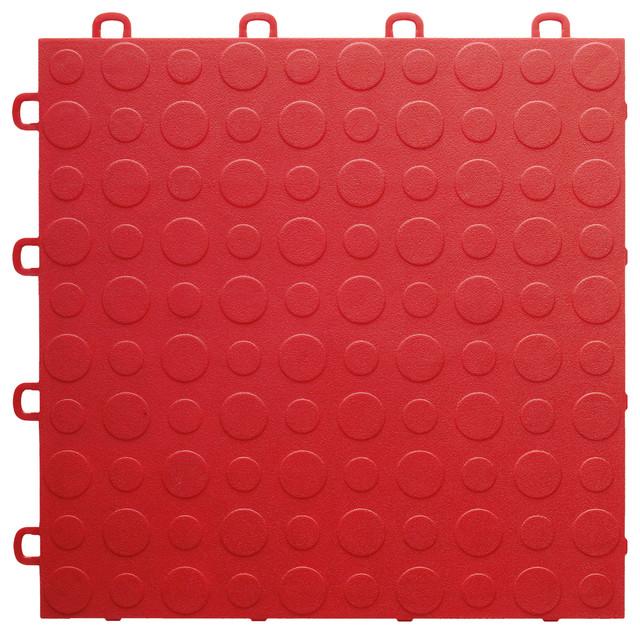 Interlocking Vinyl Floor Tiles Bathroom: BlockTile Interlocking Garage Flooring Tiles, Coin Top