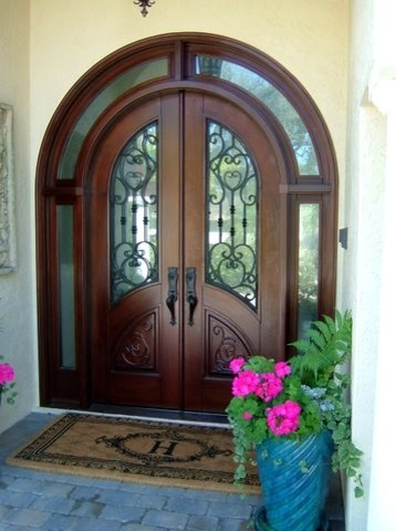 Mahogany front door traditional front doors miami for Exterior doors miami