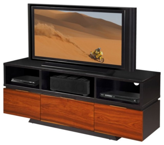 furnitech 65 in contemporary console wenge and. Black Bedroom Furniture Sets. Home Design Ideas