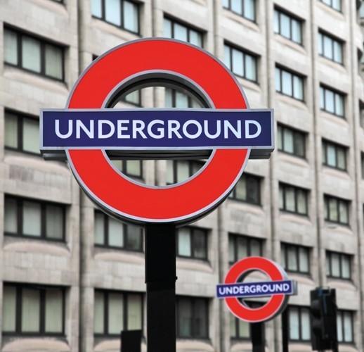 London underground mural m9089 sample contemporary for Decor mural underground
