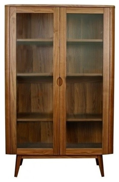 Murtaugh Glass Door Cabinet - Contemporary - Storage Cabinets - by Apt2B