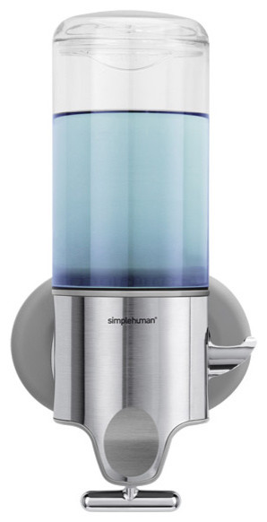 Simplehuman shampoo soap dispensers contemporary bathroom accessories by the container store - Simplehuman shampoo soap dispensers ...