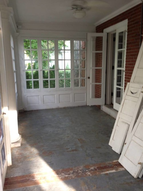 Enclosed Porch Floor Color Paint
