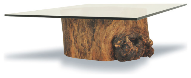 hollow trunk coffee table square tropical coffee. Black Bedroom Furniture Sets. Home Design Ideas