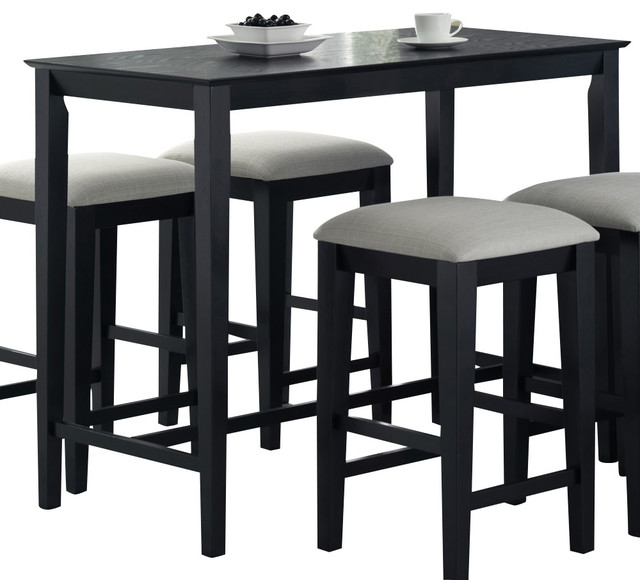 Monarch Specialties 1919 Rectangular Counter Height Dining  : traditional indoor bar tables from www.houzz.com.au size 640 x 580 jpeg 62kB