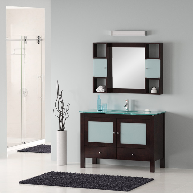 "48"" Modern Bathroom Vanity - Modern - Bathroom Vanities And Sink Consoles - Miami - by BATHROOM ..."
