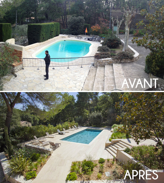 Eguilles am nagement d 39 un jardin autour d 39 une piscine re for Photo d amenagement piscine