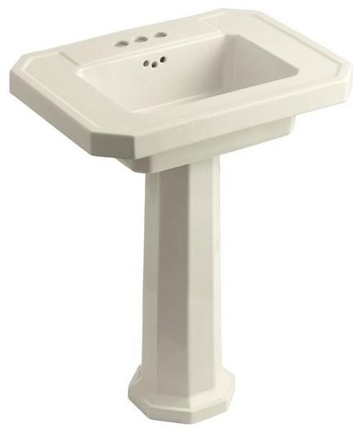 KOHLER Bathroom Kathryn Pedestal Combo Bathroom Sink in Almond brown K ...