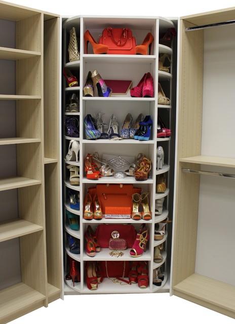 revolving walk in closet organizer by logical design
