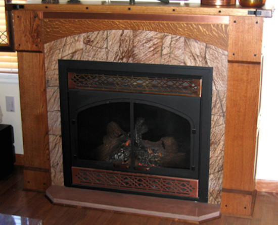 My work for Craftsman fireplaces photos