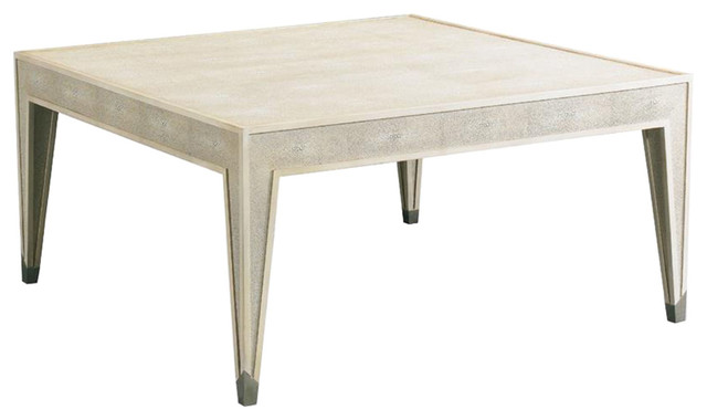 CTH Sherrill Occasional Nelson Cocktail Table Ivory