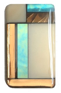 Beach Comber Stained Glass Knob, Satin Nickel - Craftsman - Cabinet And Drawer Knobs - by Glace ...