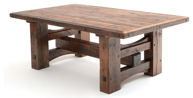 Massive Reclaimed Wood Beam Table Farmhouse Dining Tables Other Metro