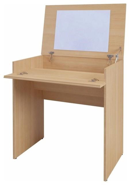Vanity Natural Maple Modern Desks And Hutches By Nexera