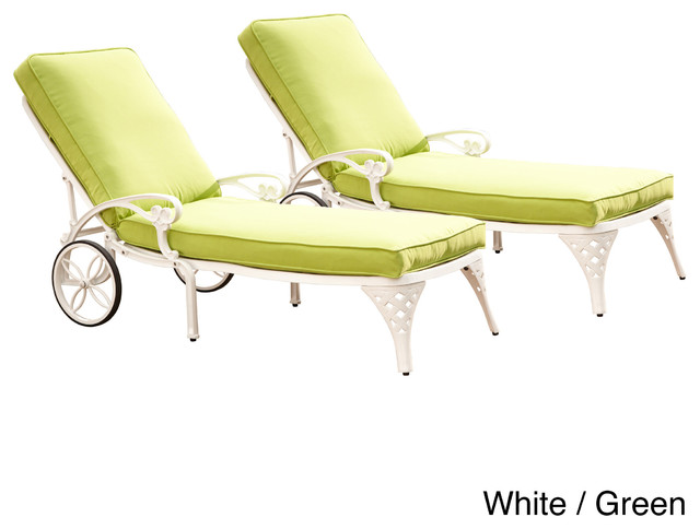 Biscayne chaise lounge chairs with cushion contemporary for Chaise longue tours