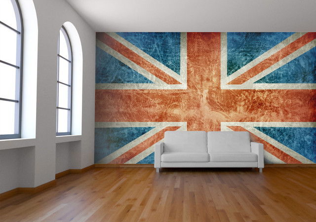 Union Jack Wall Mural  Wallpaper  london  by Wallpapered
