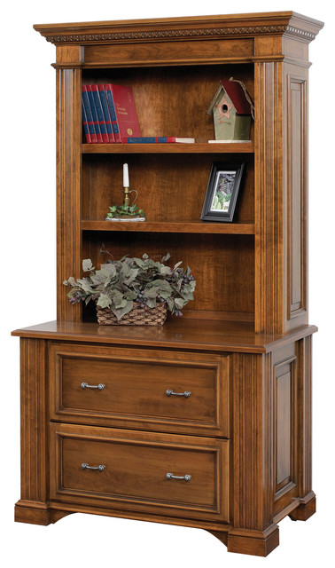 Lincoln Office Lateral File and Bookshelf - Filing Cabinets - by ...