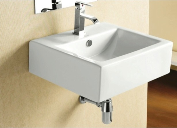 White Square Vessel Sink : Square White Ceramic Wall Mounted or Vessel Bathroom Sink contemporary ...