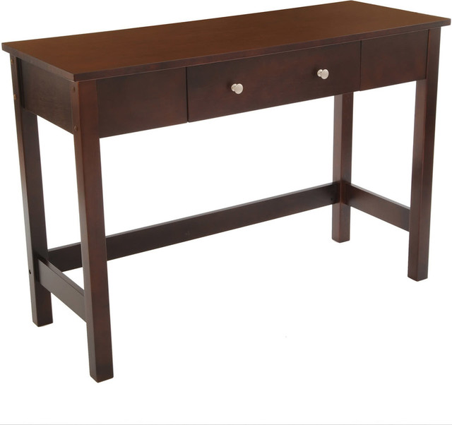 Sofa Console Table with Full Wood Top and Drawer