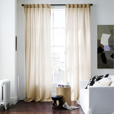 Luxe window panel gold contemporary curtains by for West elm window treatments
