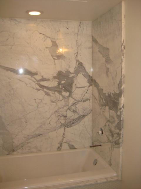 Bathroom Shower Calcutta Gold Marble Slabs Modern New
