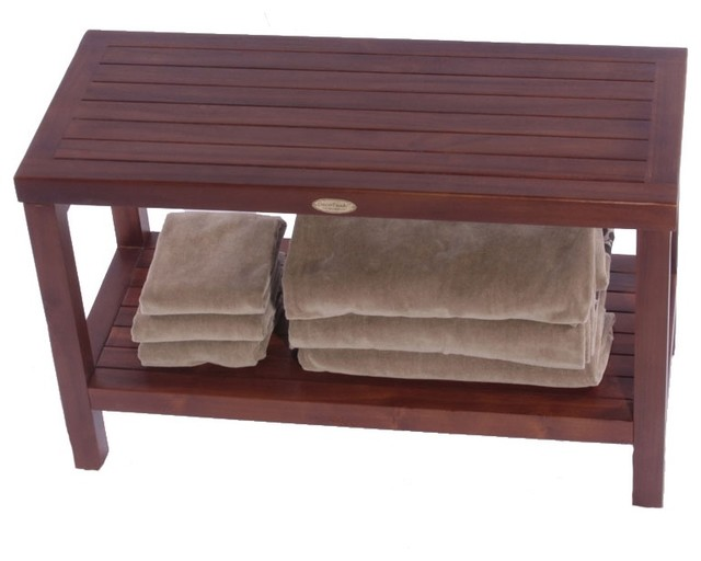 Decoteak Classic Spa Bench Contemporary Shower Benches