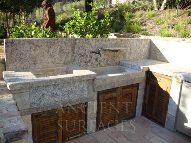 Outdoor Stone Sink : ... Sink outdoor BBQ Kitchen Sink Al Fresco mediterranean-outdoor-g...