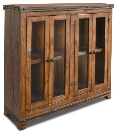 Distressed Reclaimed Wood Entry Way Cabinet Bookcase China Cabinet Tv ...