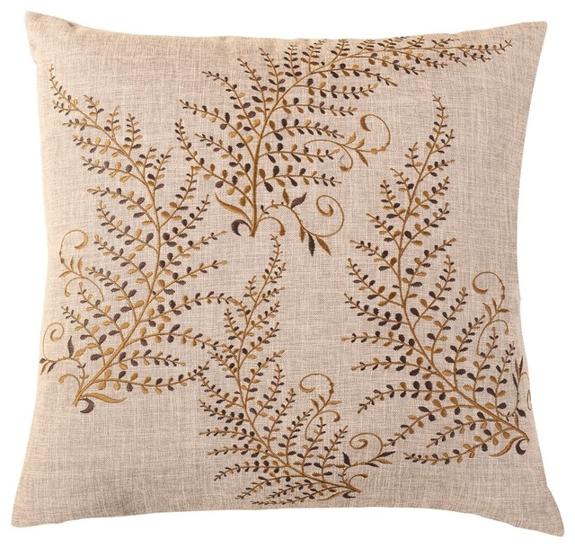 Brown Decorative Throw Pillows : Magic Trees Embroidered Throw Pillow, Brown - Decorative Pillows - by Calla Angel