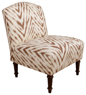 Chair brown cream zebra contemporary armchairs and accent chairs
