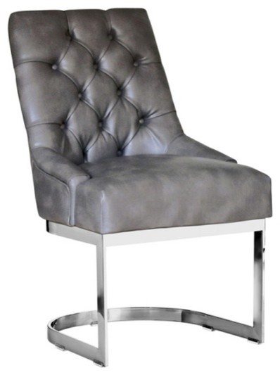 unique leather dining chair gray nobility contemporary dining chairs by artefac. Black Bedroom Furniture Sets. Home Design Ideas