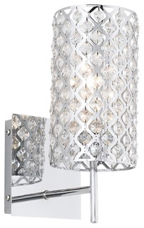 Possini Glitz Crystal And Chrome 12 1 2 Quot High Wall Sconce