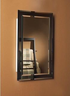 Mirror On Mirror Frameless Medicine Cabinet - Modern - Medicine Cabinets
