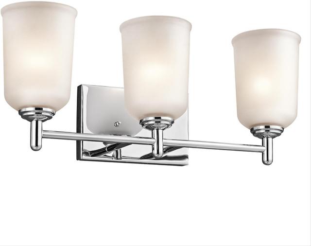 Transitional Bathroom Vanity Lights : Kichler Lighting 45574Ch Bath Lighting - Transitional - Bathroom Vanity Lighting - by Rlalighting